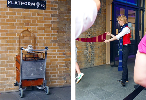 King's Cross Station, Platform 9¾ . I want his job.