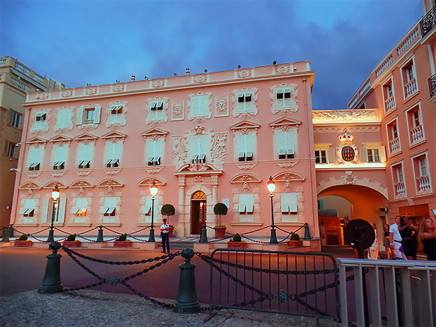 The fantastically pink Prince's Palace of Monaco