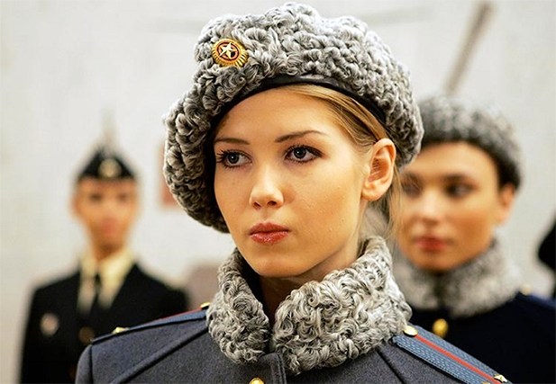 A Miss Russian Army 2007 beauty pageant contestant