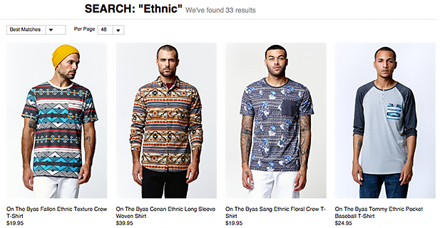 """Ethnic"" prints at PacSun. Photo credit: PacSun"